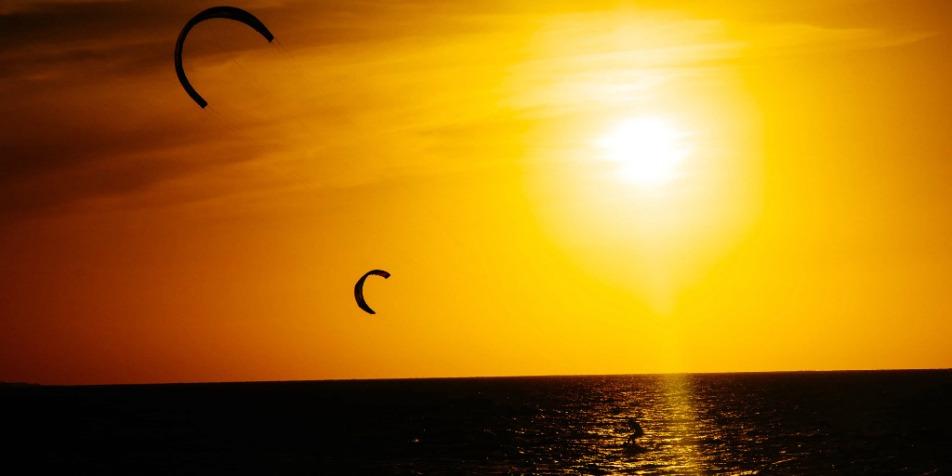 Kite na praia do Atins